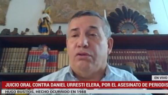 Congresista Daniel Urresti afronta juicio oral por el asesinato de Hugo Bustíos. (Foto: Poder Judicial)