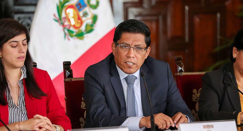 El presidente del Consejo de Ministros, Vicente Zeballos (Foto: Difusión)