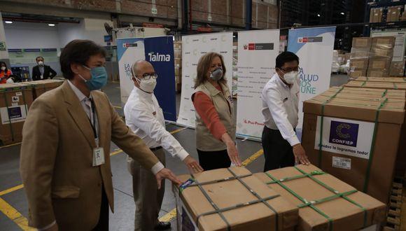 Equipos médicos fueron comprados  con los aportes solidarios de más de 120 empresas (Foto: Anthony Niño de Guzmán/GEC)