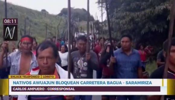Nativos se dirigieron hacia los exteriores de la Estación 5 de Petroperú. (Foto: Captura/Canal N)