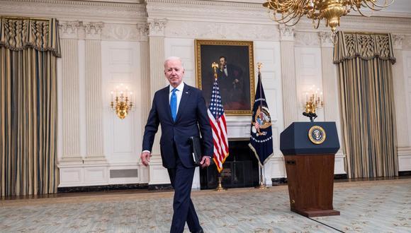 El presidente de Estados Unidos Joe Biden. (EFE/EPA/JIM LO SCALZO).