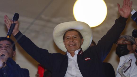 Pedro Castillo será presidente del Perú durante el período 2021-2026. (Foto: AFP)