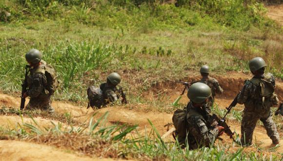 El ministro de Defensa, Walter Ayala, indicó que los agentes de las Fuerzas Armadas continuarán en el Vraem luchando contra el terrorismo. (GEC)