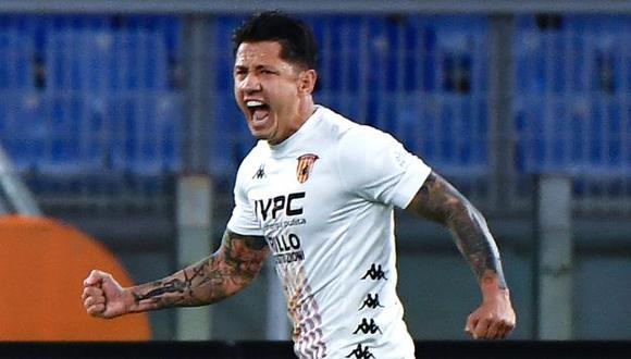 Gianluca Lapadula juega en Benevento y tiene dos goles en la presente temporada. (Foto: AFP)