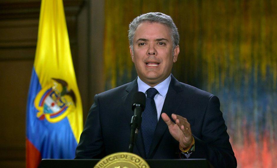 """Las palabras de Duque se conocen en medio de las denuncias de """"abandono"""" por parte de los militares venezolanos que cruzaron la frontera y se instalaron en Colombia. (Foto: EFE)"""