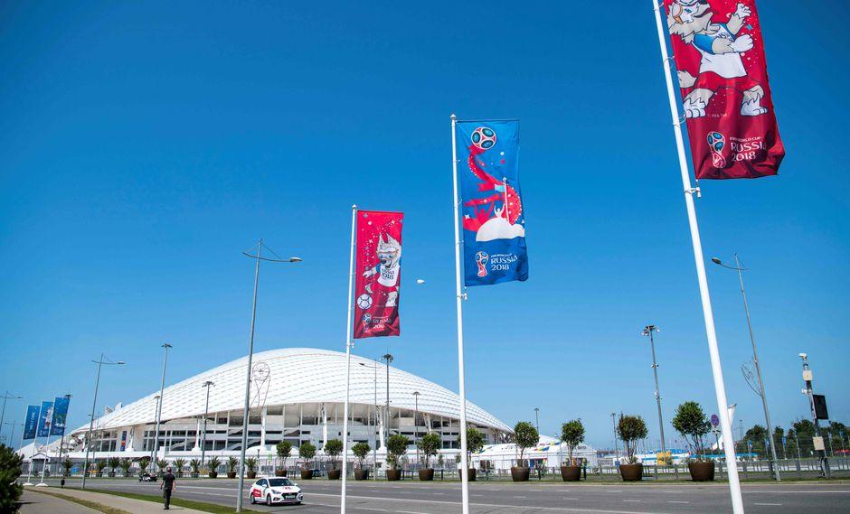 El estadio de Sochi, en donde Perú jugará contra Australia. (Foto: AFP)