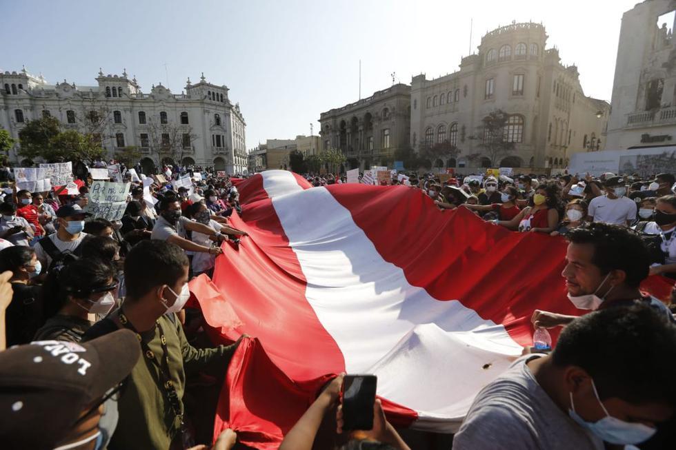 Plaza San Martín: manifestantes inician marcha nacional en contra del  presidente Manuel Merino | FOTOS | Cercado de Lima nndc | PERU | GESTIÓN