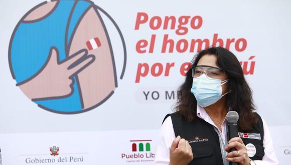 La primera ministra, Violeta Bermúdez, anunció que desde este martes comienza la vacunación de personas con Síndrome de Down. (Foto: GEC)