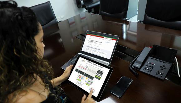La entidad atendió a través de Internet en localidades con inmovilización social obligatoria. (Foto: Sunarp)