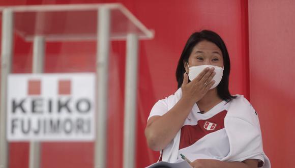 """Fujimori Higuchi le pidió a los simpatizantes de Perú Libre """"lanzar propuestas"""" en lugar de """"lanzar piedras"""". Lamentó que se haya buscado agredirla durante su visita a Huaraz. (Foto: Renzo Salazar/ GEC)"""