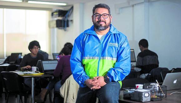 Velocidad. Chazki pretende realizar ciertas entregas en 10 minutos, revela Gonzalo Begazo, CEO  de la compañía. (Foto: GEC)