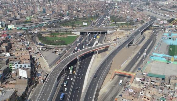 Vista aérea del Viaducto Caquetá que forma parte del proyecto Línea Amarilla. (Foto: Difusión)