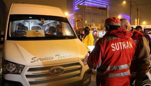 Personal de Sutran ejecuta operativos en los terminales terrestres. (Difusión)
