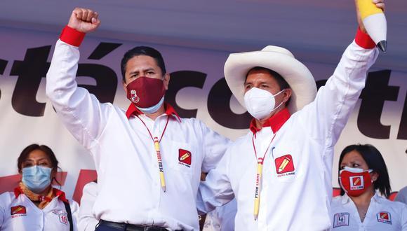 Vladimir Cerrón y Pedro Castillo (Foto: Facebook)