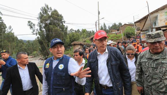 El mandatario llegó a la zona acompañado de varios ministros de Estado. (Foto: Andina)