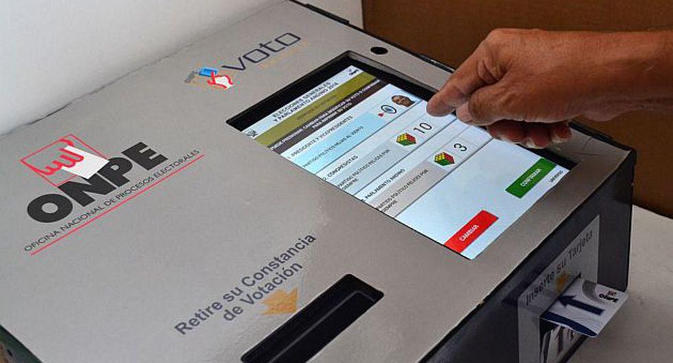 El voto electrónico se usará en 39 distritos a nivel nacional. (Foto: Andina)