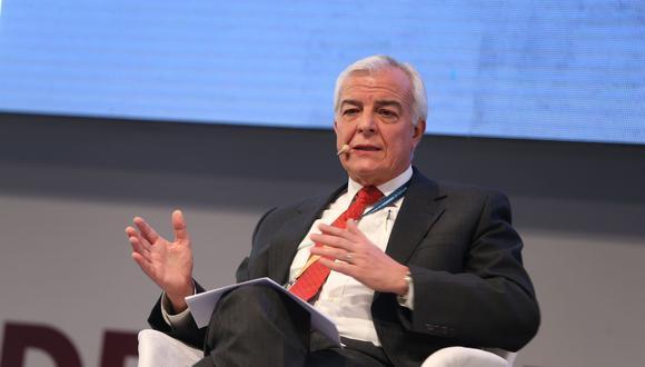 Carlos Gálvez, past president de la Sociedad Nacional de Minería, Petróleo y Energía (SNMPE) (Foto: Andina)