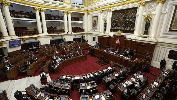 Pleno del Congreso sesionará este miércoles y jueves. (Foto: GEC)