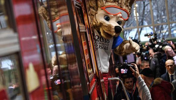 La mascota de Rusia 2018, Zabikava, espera las exportaciones peruanas.