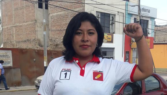 """""""La economía popular con mercado busca sacar lo mejor que se aplicó en Ecuador y Bolivia"""", afirmó la virtual congresista por Perú Libre. (Foto: Archivo)"""