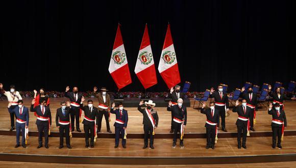 Gabinete ministerial de Guido Bellido. (Foto: Presidencia)