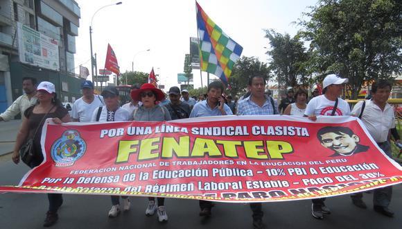 Tras la huelga magisterial del 2017, Pedro Castillo conformó un nuevo gremio sindical llamado Fenate Perú.