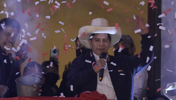 Pedro Castillo fue proclamado presidente electo del Perú el lunes. ( Foto: AP)