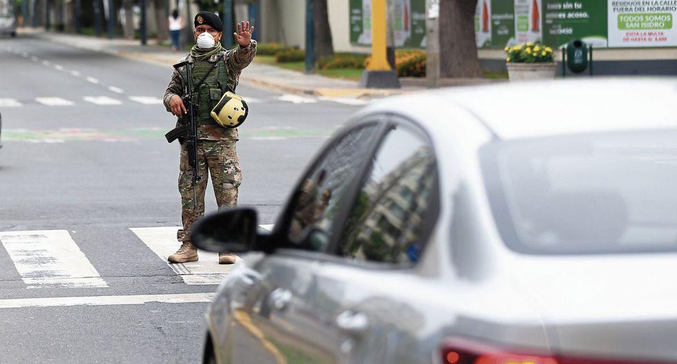 El control policial y militar es una respuesta justificada y necesaria en esta coyuntura para estos casos.(Foto: Hugo Curotto / GEC)