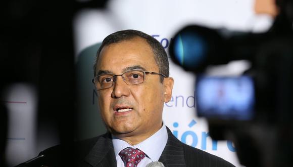Carlos Oliva, exministro de Economía. (Foto: Manuel Melgar   GEC)
