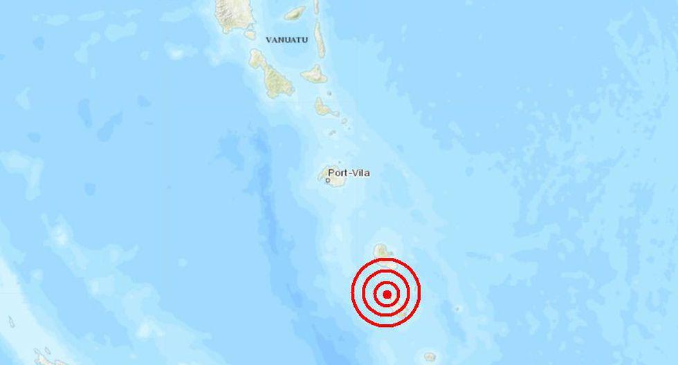 La isla de Vanuatu fue escenario de un sismo de magnitud 4,7 con profundidad de 25 kilómetros. El epicentro tuvo lugar en la ciudad de Isangel. (Captura)