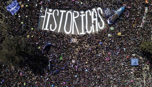Manifestaciones en Chile por el Día de la Mujer (Foto: AFP)