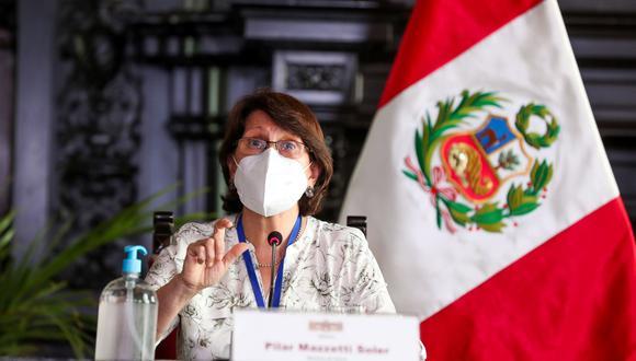 Pilar Mazzetti habría presentado su carta de renuncia al presidente Francisco Sagasti. (Foto: Andina)
