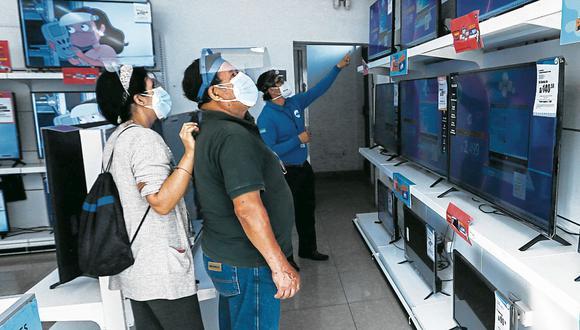 Electrónicos. Televisores es una de las categorías más beneficiadas. (FOTO: GEC)