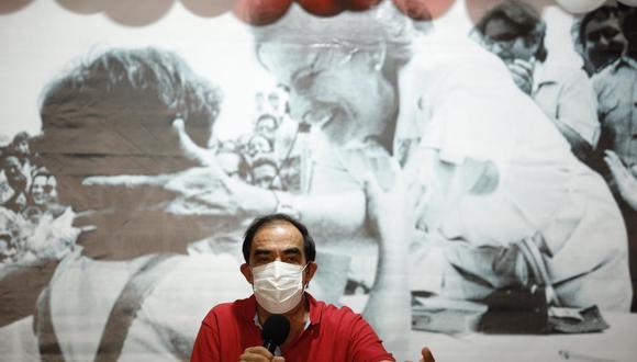 El candidato de Acción Popular, Yonhy Lescano, criticó a Pedro Castillo y Keiko Fujimori. (Foto: GEC)
