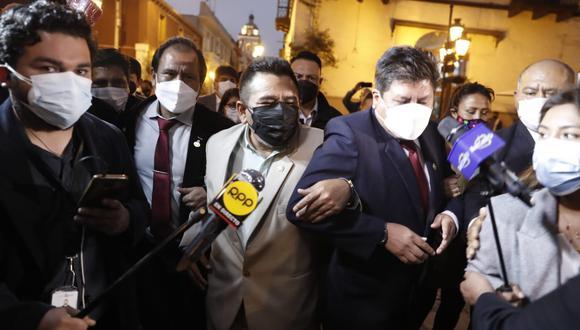 El bloque de congresistas de Perú Libre más cercano a Vladimir Cerrón respaldan el comunicado. (Foto: Hugo Perez / @photo.gec)