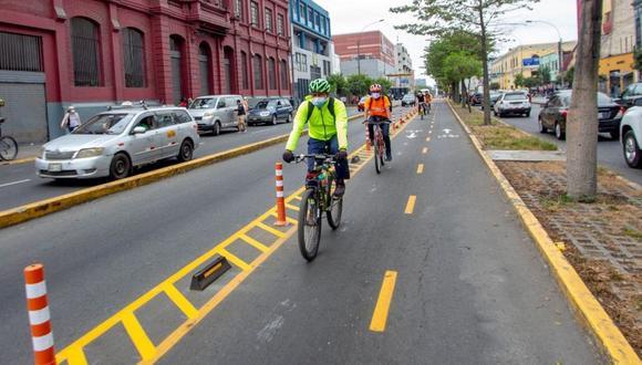 Contraloría detectó falta de estudios técnicos en ciclovías temporales de Lima. (Foto: Difusión)