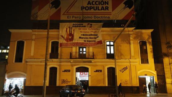 Local partidario de Acción Popular en el centro de Lima. (GEC)