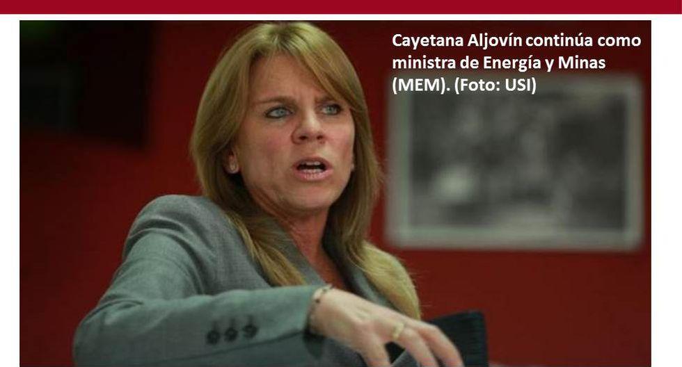 Foto 13 | Cayetana Aljovín sigue como ministra de Energía y Minas (MEM). (Foto: USI)