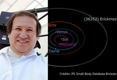 Nombran asteroide en honor a investigador peruano de Conida, Erick Meza