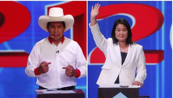 Pedro Castillo avanza con un 18.1% del total de votos emitidos, seguido de la hija del expresidente Alberto Fujimori, con el 14.4% del total de votos emitidos. (Foto: Composición/Gestión)