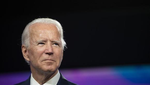 El candidato presidencial demócrata Joe Biden participa de un evento del Mes de la Herencia Hispana en el Osceola Heritage Park en Kissimmee, Florida. (AFP/JIM WATSON).