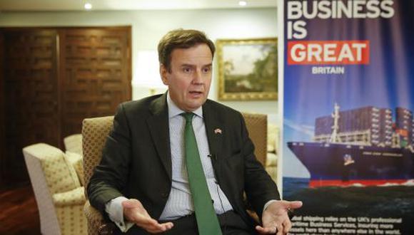 Greg Hands, ministro de Política Comercial del Reino Unido. (Foto: Manuel Melgar)