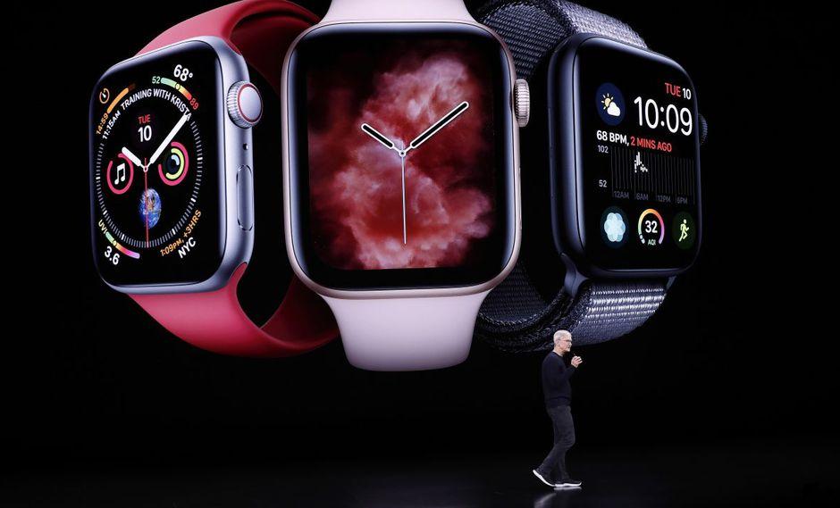 Apple presentó el Apple Watch Series 5, con una pantalla que nunca se apaga. Precio: US$ 399. (Foto: EFE)