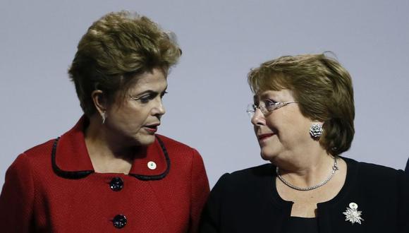Dilma Rousseff y Michelle Bachelet, exmandatarias de Brasil y Chile. (EFE)