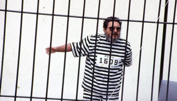 El 25 de setiembre de 1992 Abimael Guzmán fue presentado ante la prensa nacional e internacional. Falleció el último sábado 11 de setiembre. (Foto GEC Archivo Histórico)