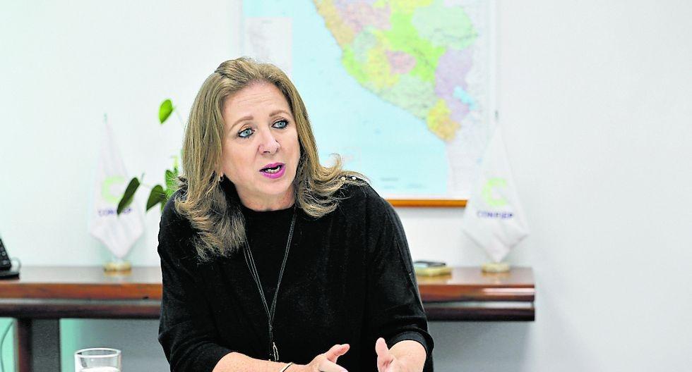 Foto: Presidenta de la Confiep, María Isabel León / Fuente: Grupo El Comercio