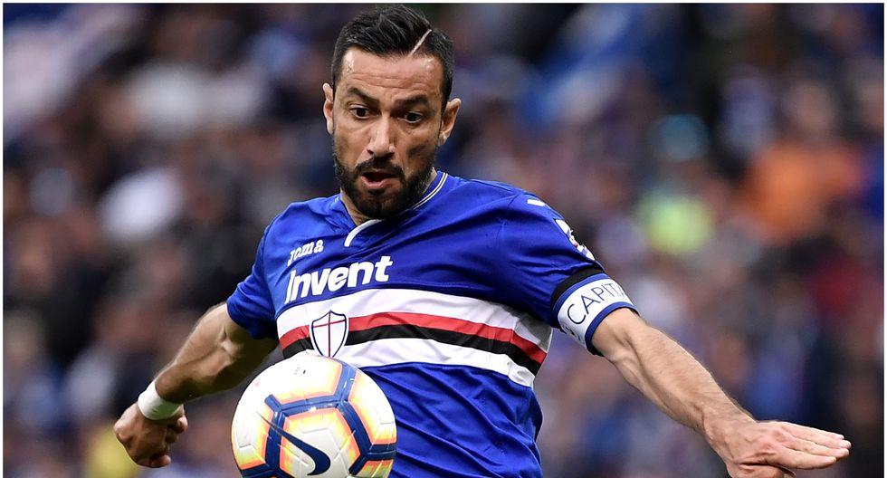 Edad 37: Fabio Quagliarella juega en Sampdoria y está valorizado en 2,2 millones de dólares (Foto AFP)