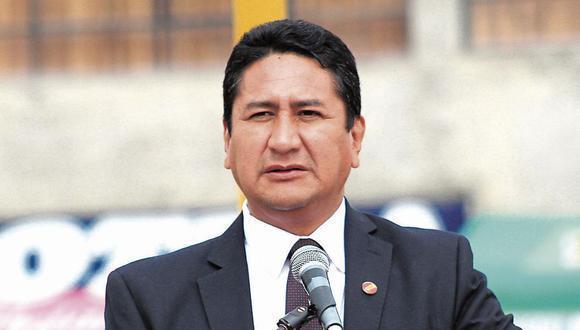Vladimir Cerrón declaró a los periodistas y adelantó que Roger Nájar es la propuesta de Perú Libre para presidir el Consejo de Ministros. (Foto: GEC)