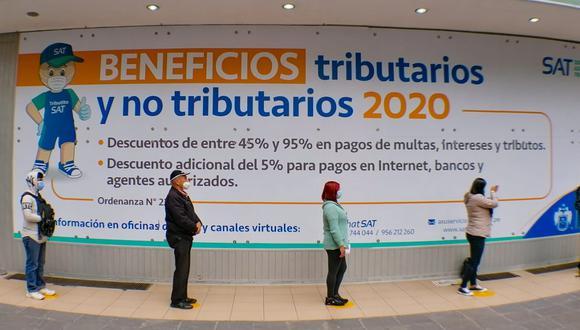 Mediante la Ordenanza 2259, prorrogada a través del Decreto de Alcaldía N° 14, se otorgaron facilidades para cancelar deudas tributarias y no tributarias, correspondientes al 2020 y años anteriores. (Foto: MML)