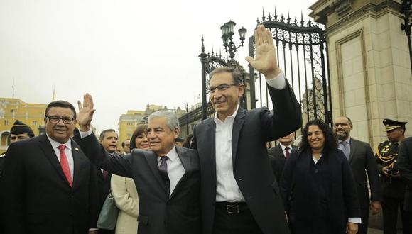 Martín Vizcarra y el gabinete de ministros se reunieron esta mañana antes de que César Villanueva plantee la cuestión de confianza ante el Congreso. (Foto: Twitter)